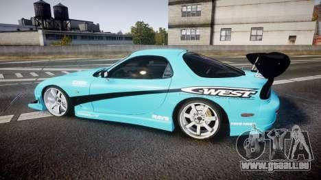 Mazda RX-7 C-West pour GTA 4 est une gauche