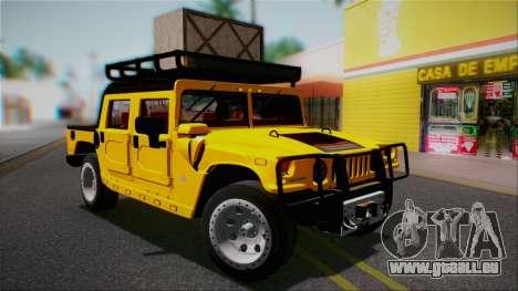 Hummer H1 Alpha OpenTop 2006 Stock pour GTA San Andreas vue de dessous