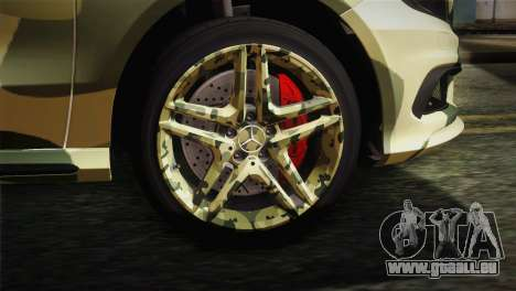 Mercedes-Benz A45 AMG Camo Edition für GTA San Andreas zurück linke Ansicht
