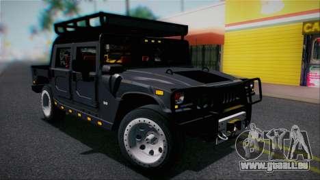 Hummer H1 Alpha OpenTop 2006 Stock pour GTA San Andreas vue de côté
