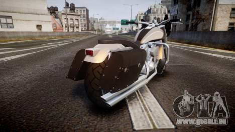 GTA V Western Motorcycle Company Bagger pour GTA 4 Vue arrière de la gauche