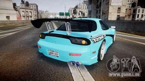 Mazda RX-7 C-West pour GTA 4 Vue arrière de la gauche