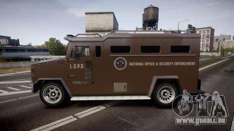 GTA V Brute Police Riot für GTA 4 linke Ansicht
