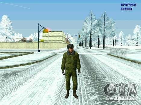 Pak militaire de la Fédération de russie en hive pour GTA San Andreas