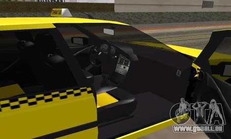Peugeot 405 Roa Taxi pour GTA San Andreas vue intérieure