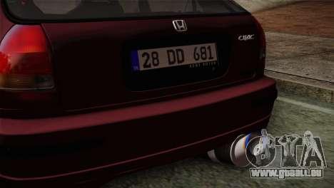Honda Civic 1.4i S TMC pour GTA San Andreas vue de droite