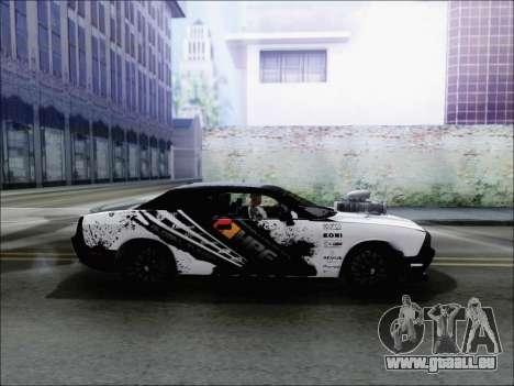 Dodge Challenger SRT8 Hemi Drag Tuning pour GTA San Andreas laissé vue