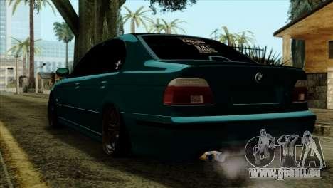 BMW 540 E39 Accuair pour GTA San Andreas laissé vue
