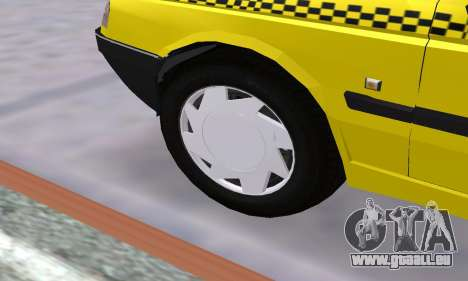 Peugeot 405 Roa Taxi pour GTA San Andreas vue de dessous