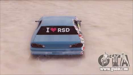 RSD Elegy pour GTA San Andreas sur la vue arrière gauche