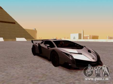 Lamborghini Veneno für GTA San Andreas zurück linke Ansicht