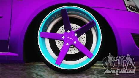 Dacia Logan Purple-Blue pour GTA San Andreas sur la vue arrière gauche
