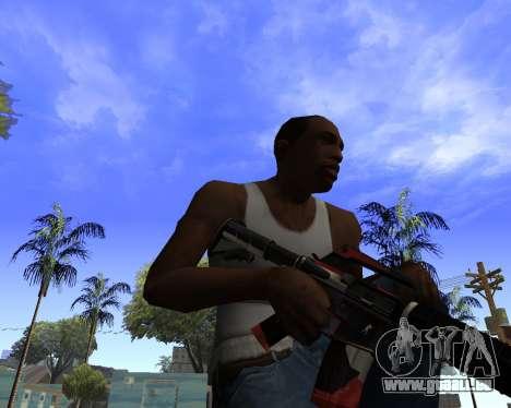 M4A1-S Syrex CS:GO für GTA San Andreas dritten Screenshot
