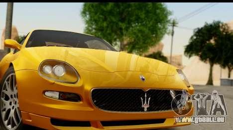 Maserati Gransport 2006 für GTA San Andreas zurück linke Ansicht