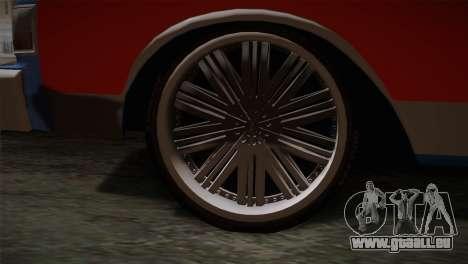 Chevy Caprice Hustler & Flow pour GTA San Andreas sur la vue arrière gauche