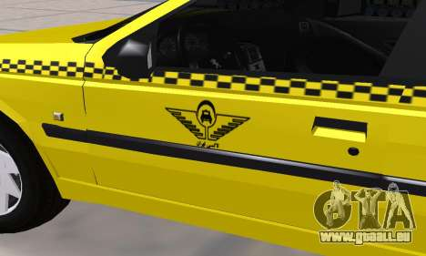 Peugeot 405 Roa Taxi pour GTA San Andreas vue de dessus