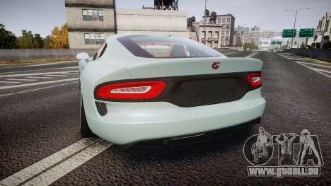 Dodge Viper SRT 2013 rims3 pour GTA 4 Vue arrière de la gauche