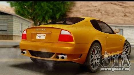Maserati Gransport 2006 pour GTA San Andreas laissé vue