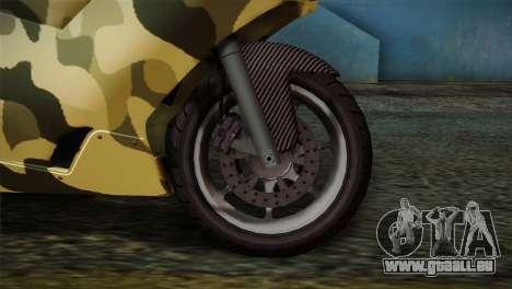 GTA 5 Bati Green für GTA San Andreas zurück linke Ansicht