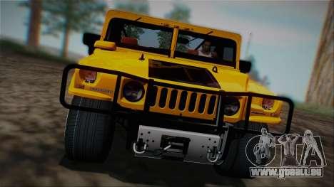 Hummer H1 Alpha OpenTop 2006 Stock pour GTA San Andreas vue intérieure