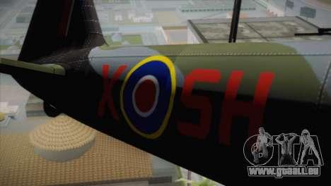 ИЛ-10 russische Luftwaffe für GTA San Andreas Rückansicht