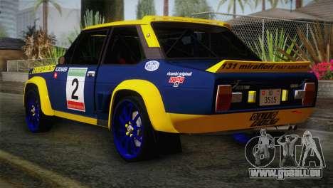 Fiat Abarth Sport Edition für GTA San Andreas linke Ansicht