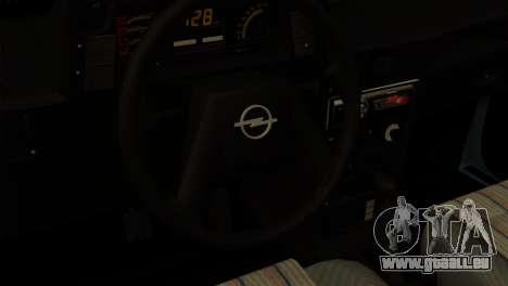 Opel Kadett Stock pour GTA San Andreas sur la vue arrière gauche