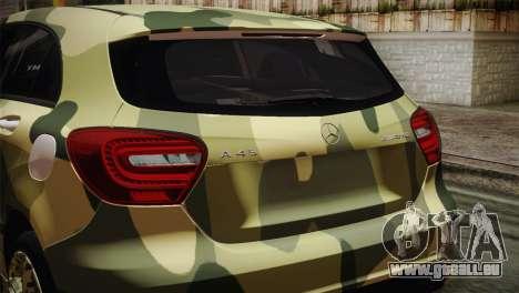 Mercedes-Benz A45 AMG Camo Edition für GTA San Andreas Rückansicht