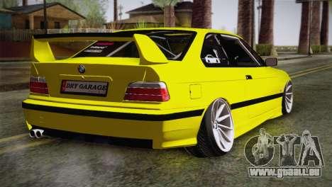 BMW M3 E36 DRY Garage pour GTA San Andreas laissé vue