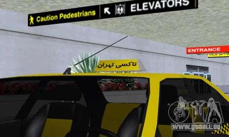 Peugeot 405 Roa Taxi pour GTA San Andreas moteur