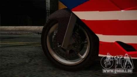 GTA 5 Bati American pour GTA San Andreas sur la vue arrière gauche