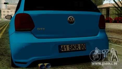 Volkswagen Polo GTI 2014 pour GTA San Andreas vue de droite