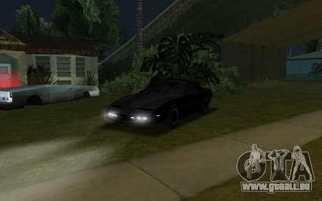 K.i.T.T. 2000 für GTA San Andreas zurück linke Ansicht
