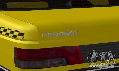 Peugeot 405 Roa Taxi pour GTA San Andreas roue