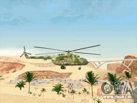 Mi-8 pour GTA San Andreas vue arrière
