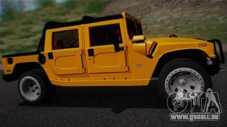 Hummer H1 Alpha OpenTop 2006 Stock pour GTA San Andreas vue de droite