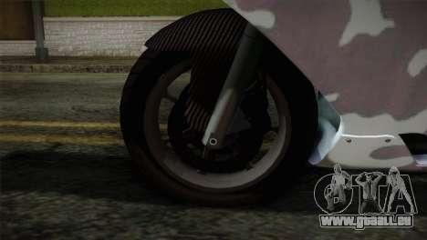 GTA 5 Bati Blue pour GTA San Andreas sur la vue arrière gauche