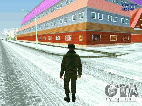 Pak militaire de la Fédération de russie en hive pour GTA San Andreas quatrième écran