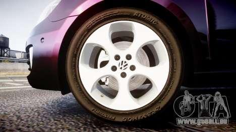 Volkswagen Golf Mk6 GTI rims1 pour GTA 4 Vue arrière