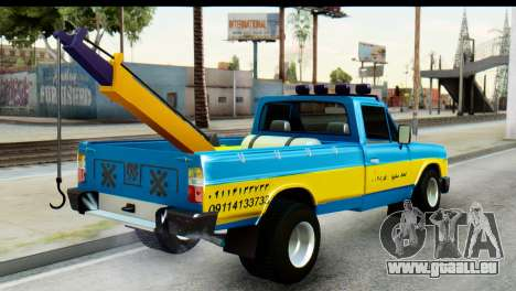 Nissan Junior 1982 Pickup Towtruck für GTA San Andreas linke Ansicht