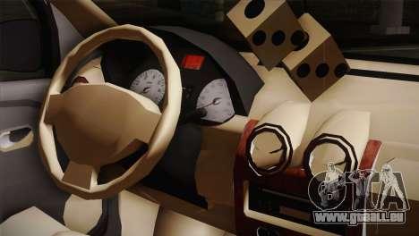 Dacia Logan Purple-Blue pour GTA San Andreas vue arrière