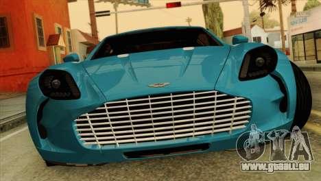 Aston Martin One 77 2010 für GTA San Andreas Rückansicht