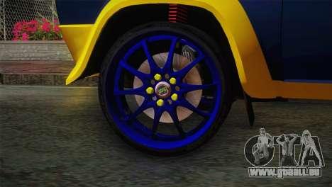 Fiat Abarth Sport Edition für GTA San Andreas zurück linke Ansicht