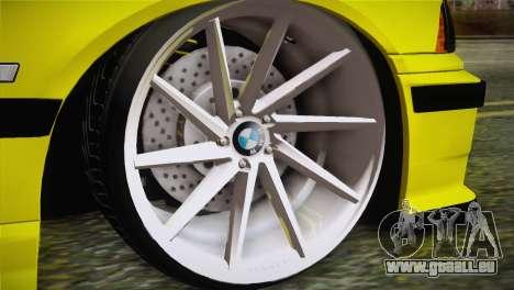 BMW M3 E36 DRY Garage pour GTA San Andreas sur la vue arrière gauche