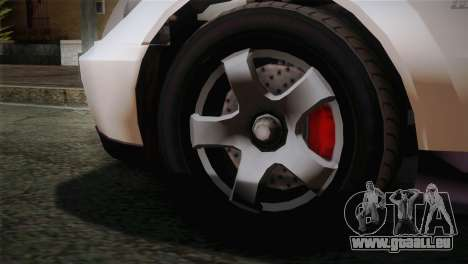 GTA 5 Karin Sultan SA Mobile für GTA San Andreas zurück linke Ansicht