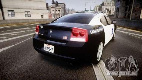 Dodge Charger 2010 LCPD [ELS] pour GTA 4 Vue arrière de la gauche