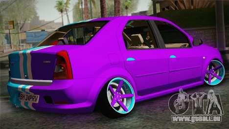 Dacia Logan Purple-Blue für GTA San Andreas linke Ansicht