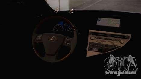 Lexus RX450H 2012 pour GTA San Andreas vue de droite