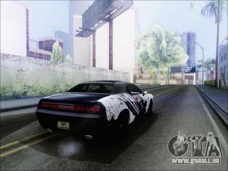 Dodge Challenger SRT8 Hemi Drag Tuning pour GTA San Andreas sur la vue arrière gauche