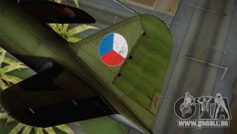 ИЛ-10 tchèque de l'Air Force pour GTA San Andreas sur la vue arrière gauche